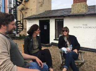 Paul, Caro and Sarah deep in conversation!