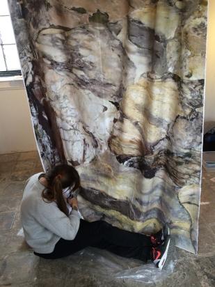 Sarah installing Sienna