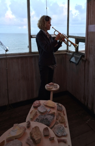 Trumpet playing by Julia Warr for the performance of VESSEL